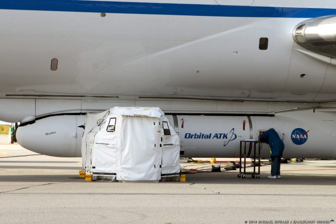 The Pegasus XL rocket and its CYGNSS payload will take off From Cape Canaveral slung under the L-1011, which will then fly some 100 miles out over the Atlantic Ocean. The rocket will then be deployed and activated. Photo Credit: Michael Howard / SpaceFlight Insider
