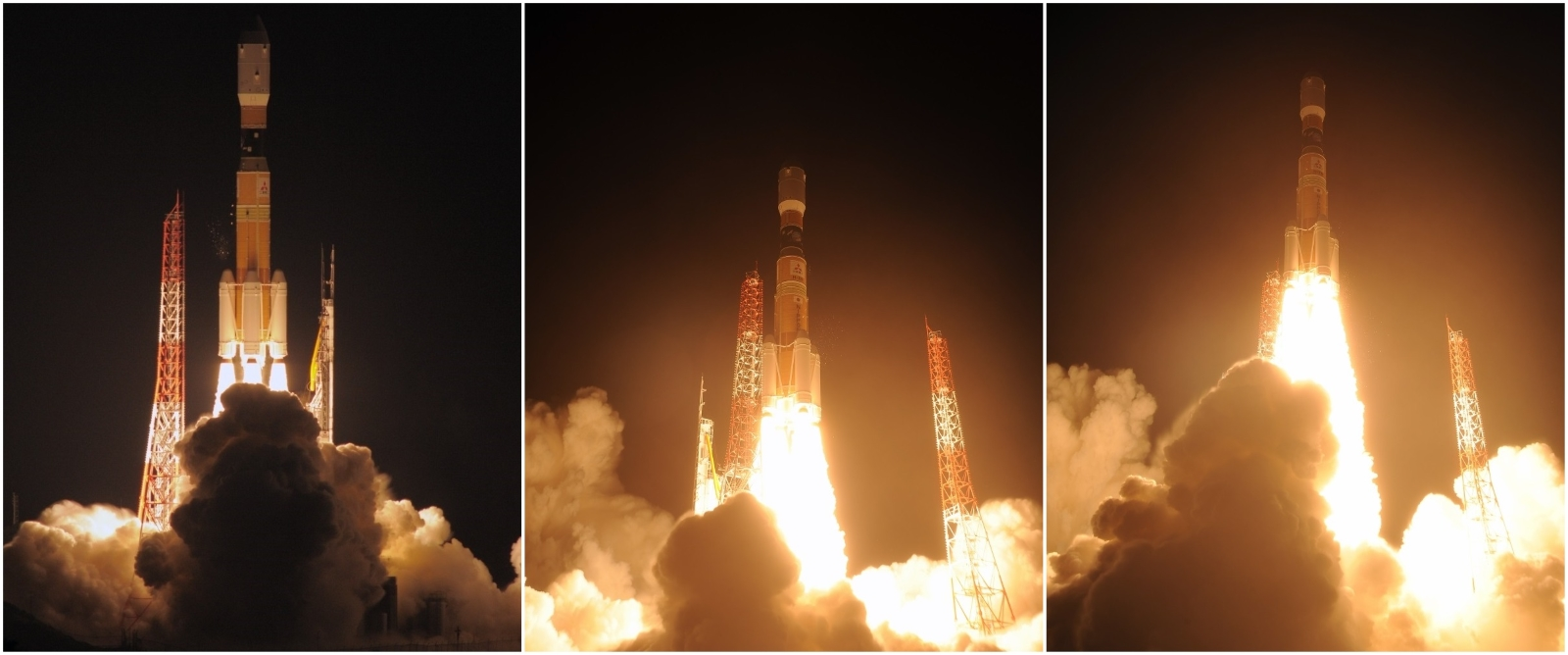 H-IIB / HTV-5 launch collage
