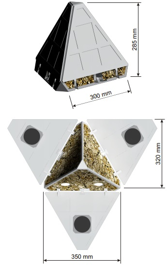 The PANIC lander's design as a proof-of-concept CAD-model.