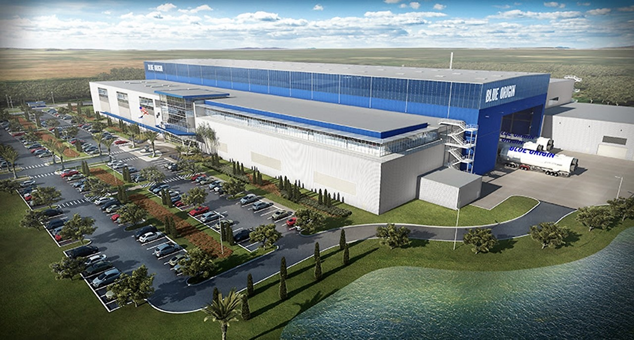 Artist's rendition of Blue Origin's New Glenn rocket factory