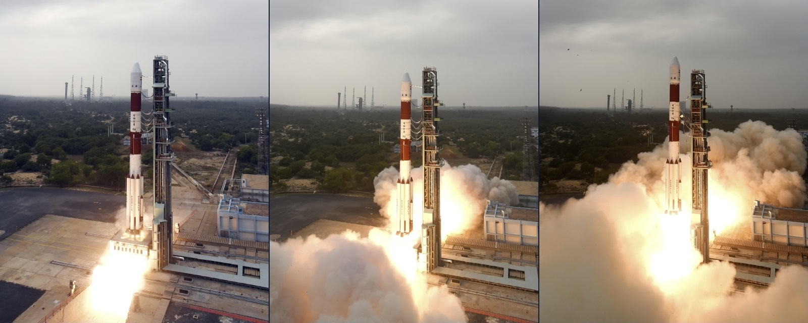 PSLV-C36 launch collage