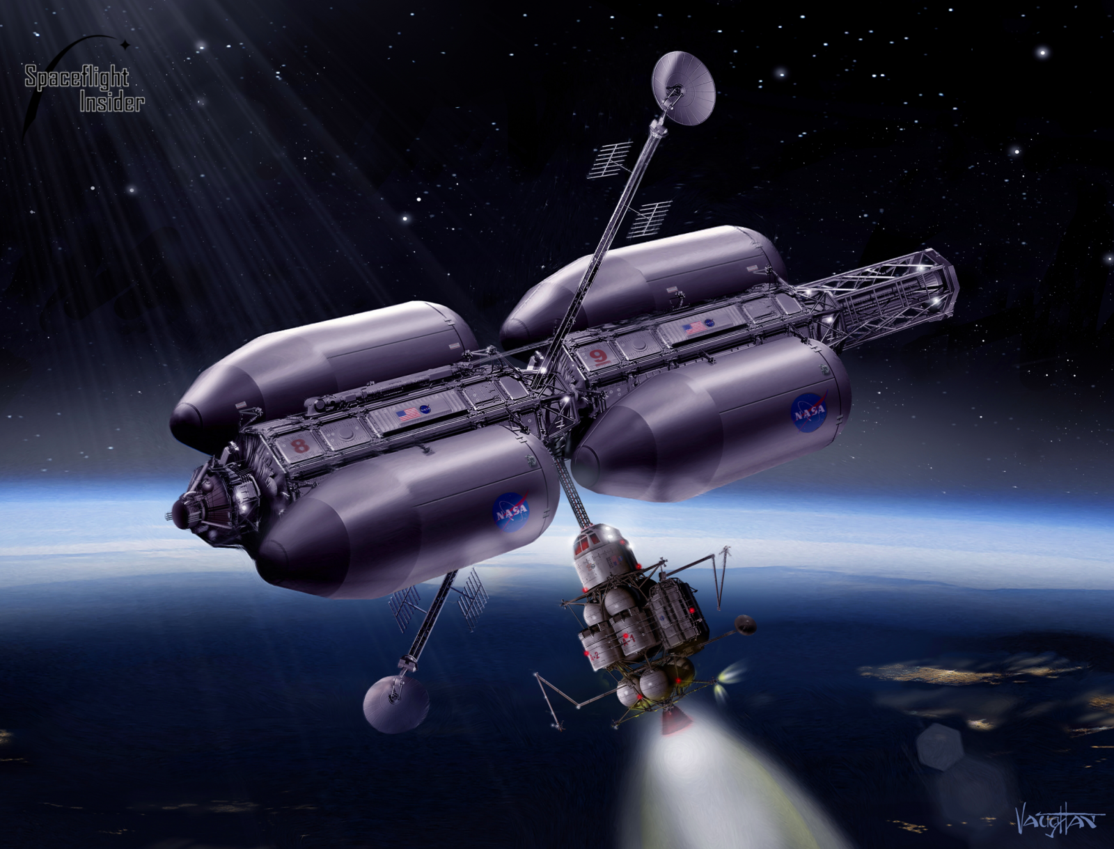 NASA spacecraft depiction
