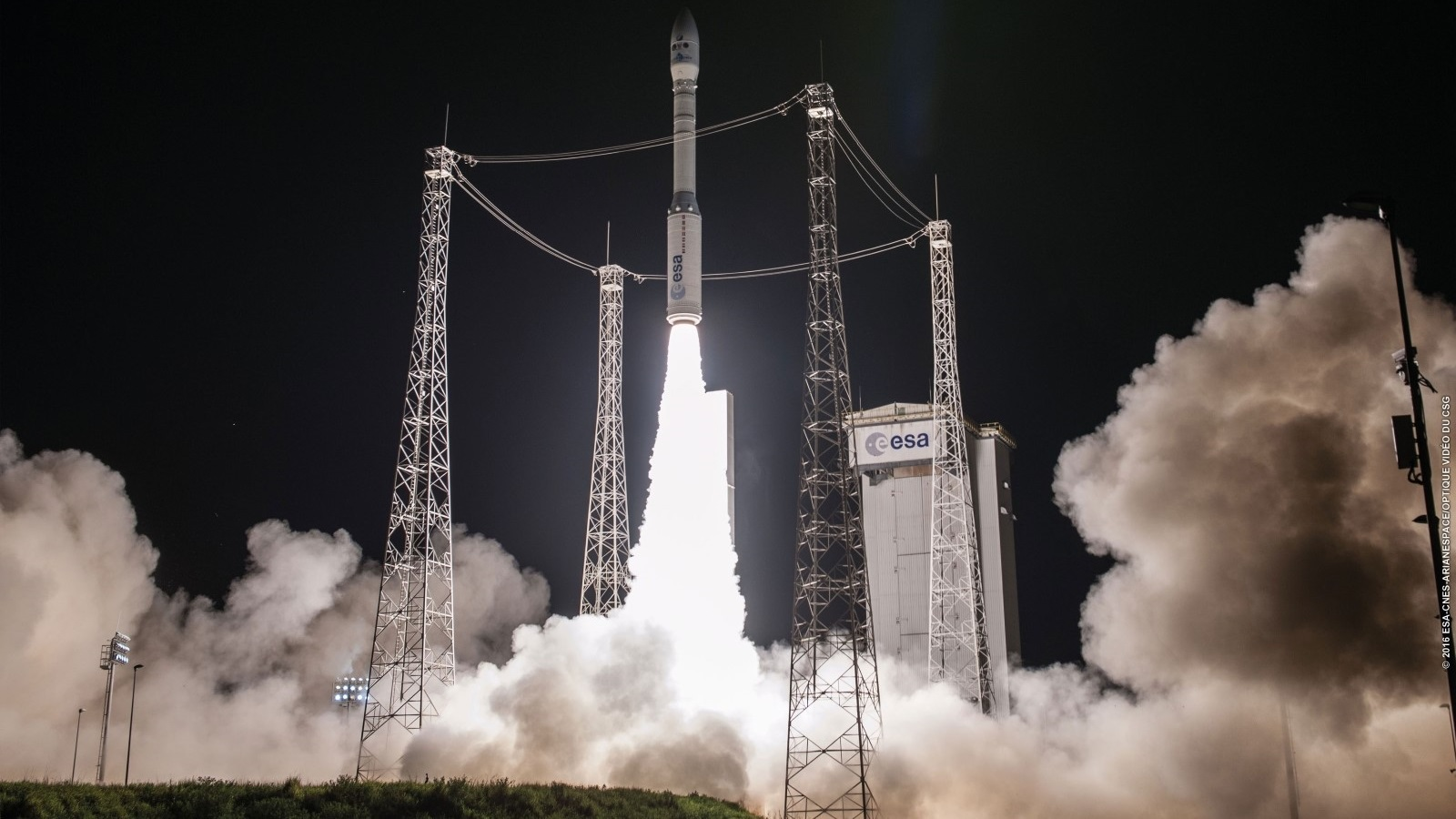 Vega flight VV07 with the PerúSAT-1 and SkySats-4 to -7 satellites