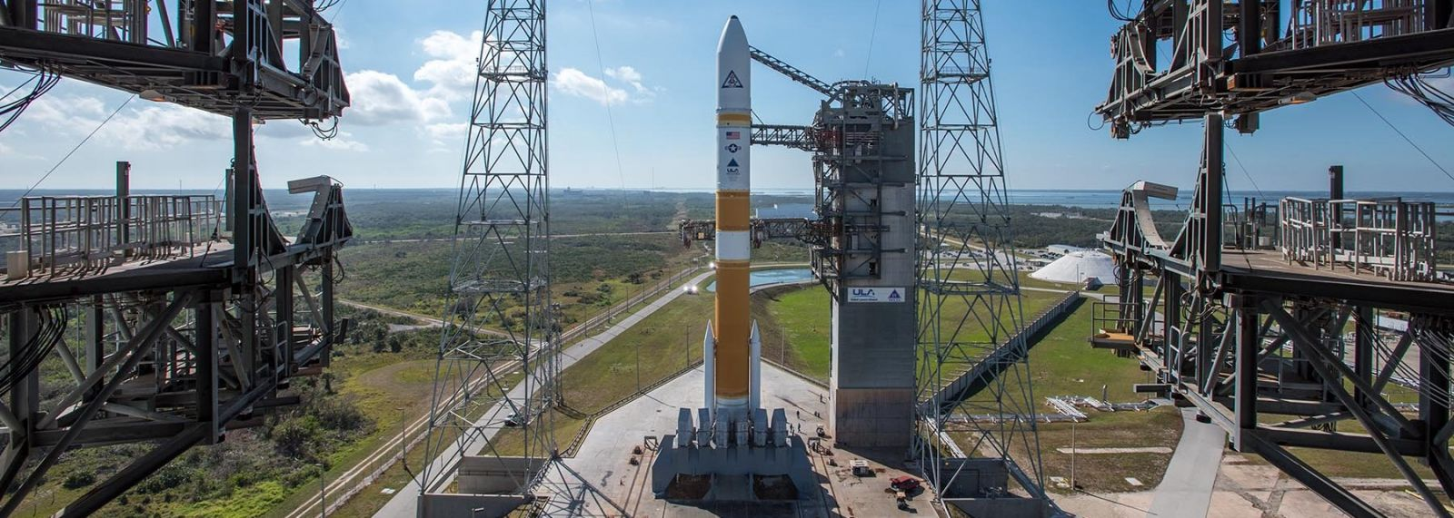 A United Launch Alliance Delta IV Medium+ 5,4 rocket sits poised to send the WGS-8 satellite to orbit. Photo Credit: ULA