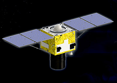 Artist's rendering of the SuperView-1 satellite.