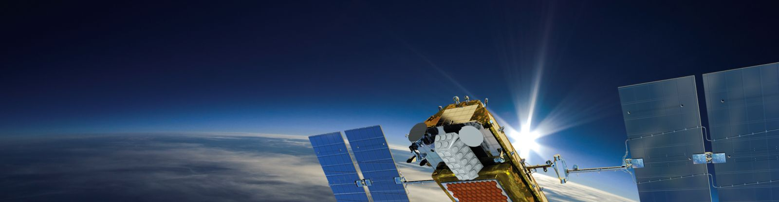 An artist's rendering of an Iridium NEXT satellite in orbit above Earth. Image Credit: Iridium