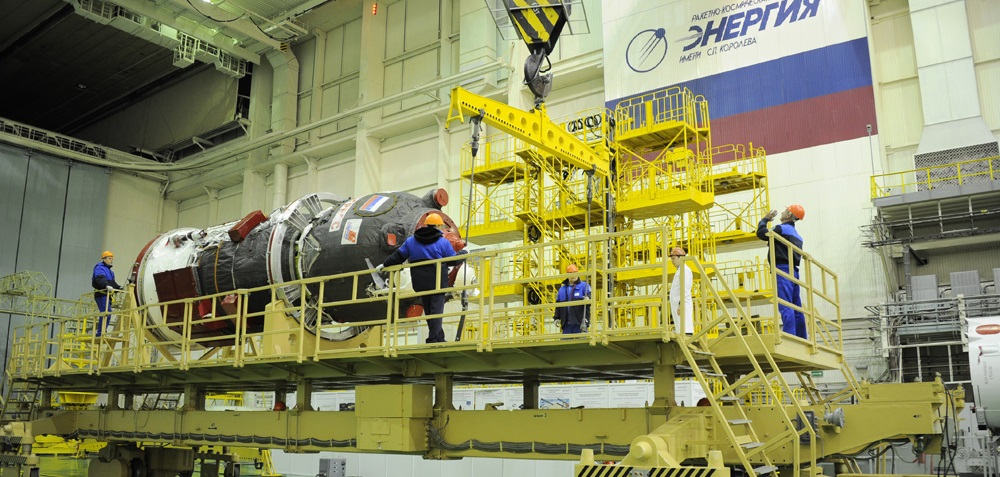 The Progress MS-04 cargo spacecraft before its ill-fated Dec. 1 flight.