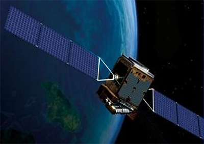 Artist's impression of the TanSat satellite in space.
