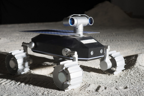 Artist's depiction of Team Indus rover on the surface of the Moon. Image Credit: Team Indus