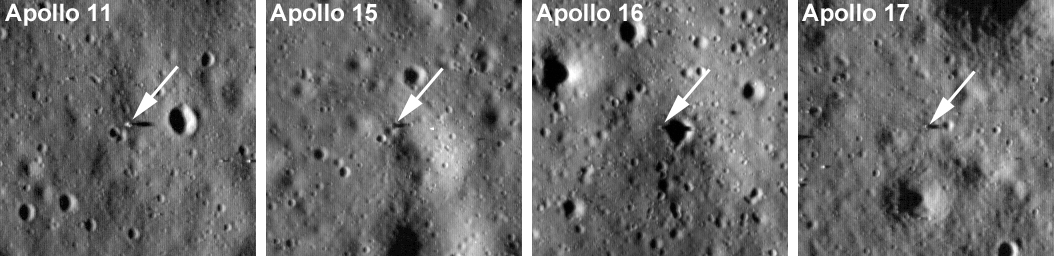 Lunar Reconnaissance Orbiter images of Apollo Program landing sites. Famed space astronomy writer and editor Nancy Atkinson has penned a new book, Incredible Stories From Space. Photo Credit: NASA / JPL