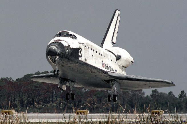 Space Shuttle Discovery returns to Kennedy Space Center after successfully completing the STS-124 mission in May of 2008. Photo Credit: Carleton Bailie / SpaceFlight Insider
