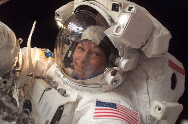 Peggy Whitson during her previous spacewalk all the way back in January 2008. Photo Credit: NASA