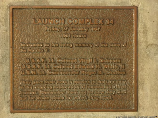 Apollo 1 Plaque