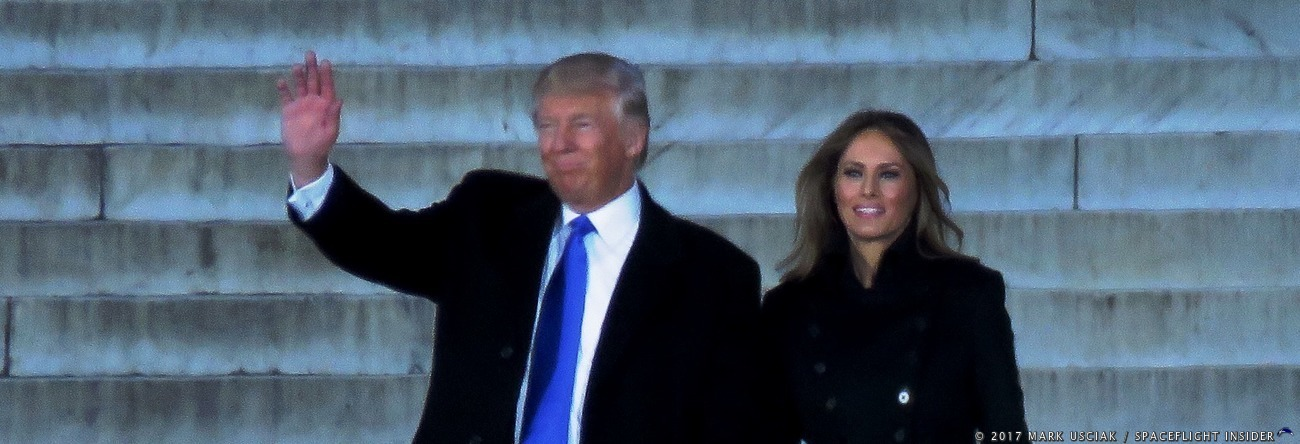 President Donald J. Trump and First Lady Melania Trump. Photo Credit: Mark Usciak / SpaceFlight Insider