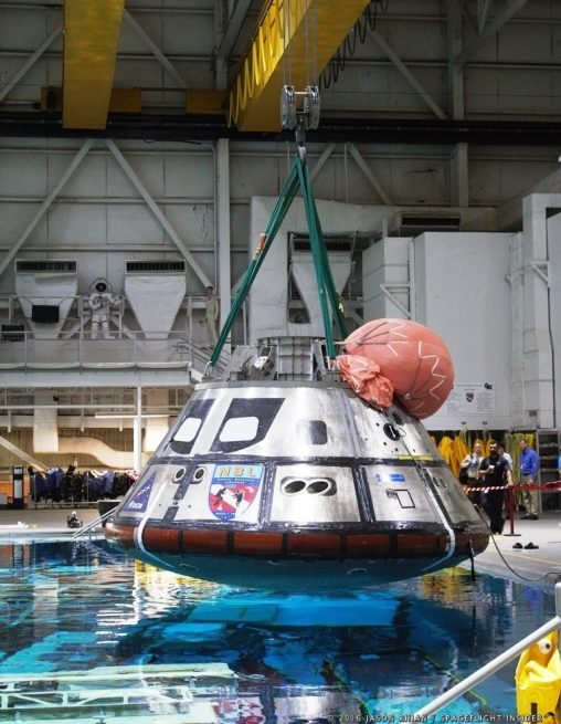 Orion Crew Module mockup at Neutral Buoyancy Laboratory. Photo Credit Jason Rhian / SpaceFlight Insider