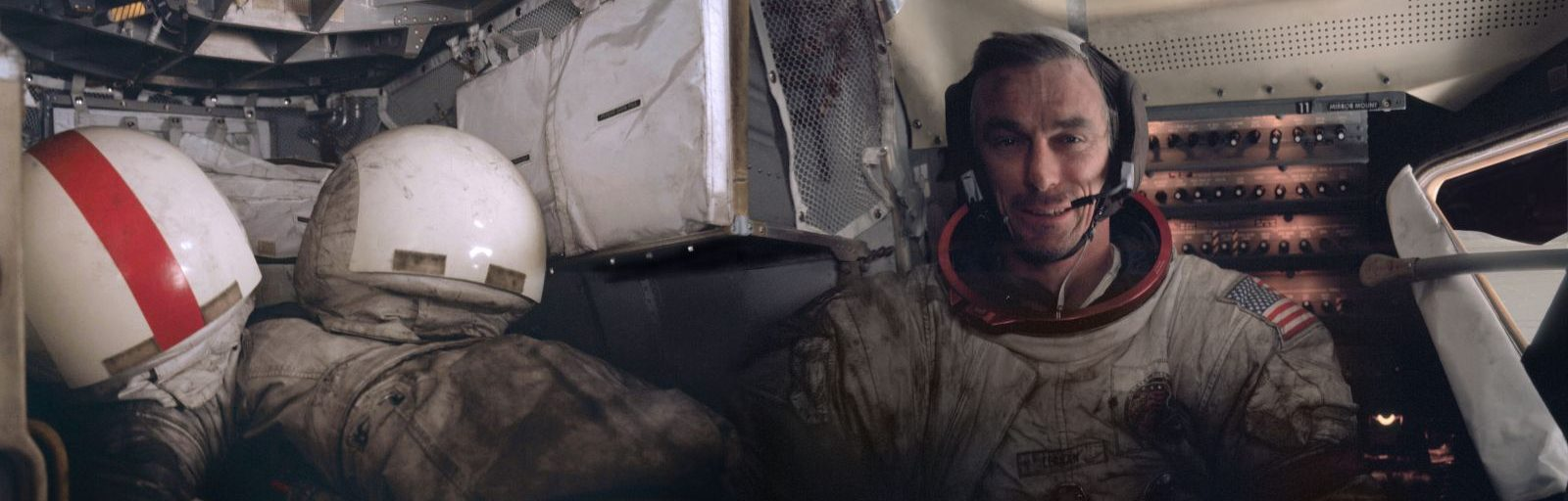 Cernan inside the Lunar Module