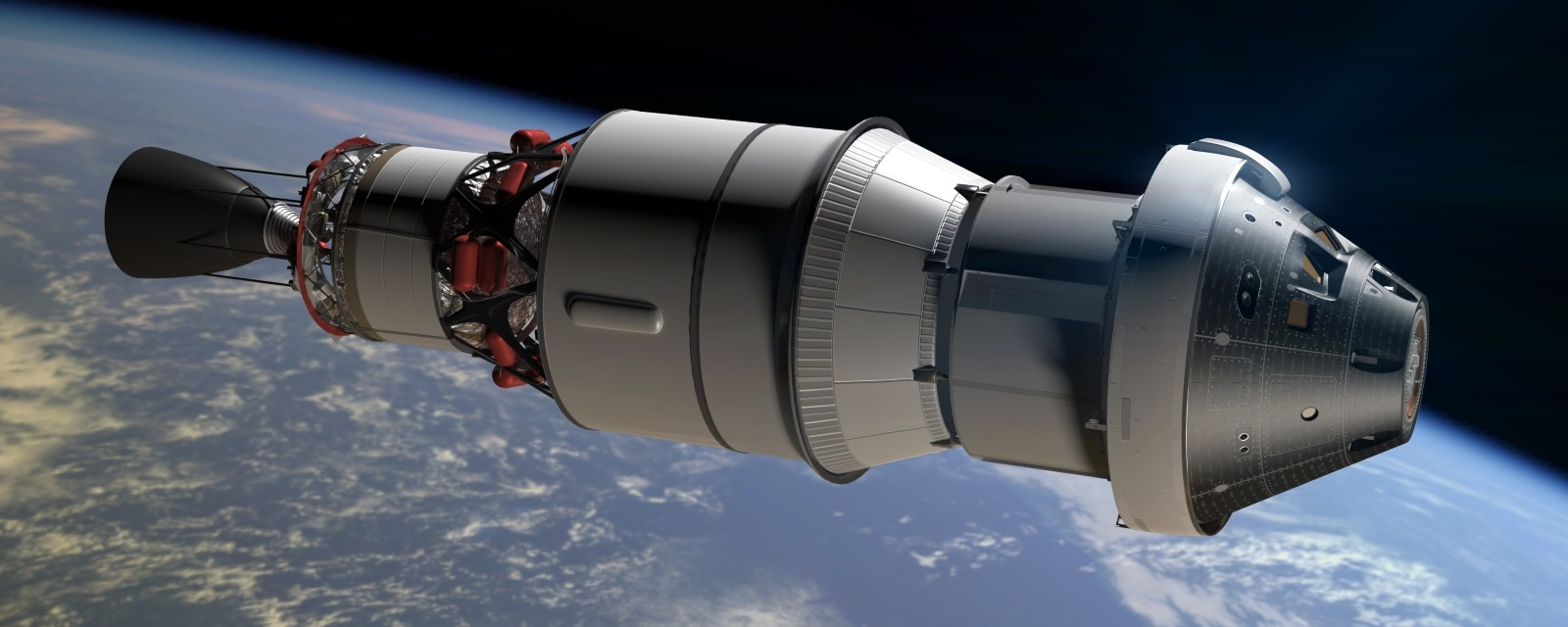 CGI of Orion Exploration Flight Test 1