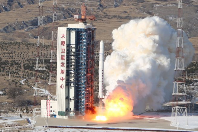A file photo of a Long March 2D launching on Dec. 28, 2016, with SuperView-1 01/02. Photo Credit: Xinhua