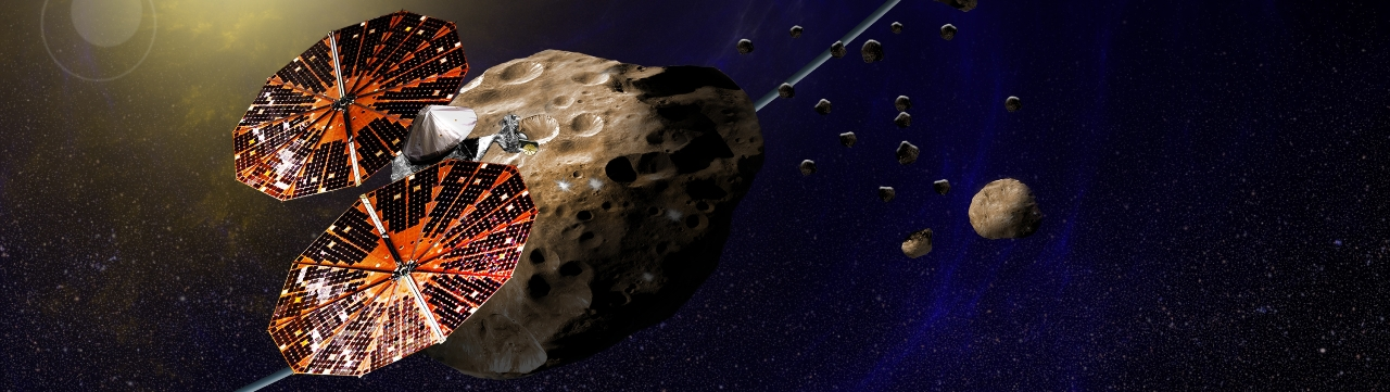 NASA Lucy spacecraft studying Jupiter Trojan asteroids image credit Southwest Research Institute