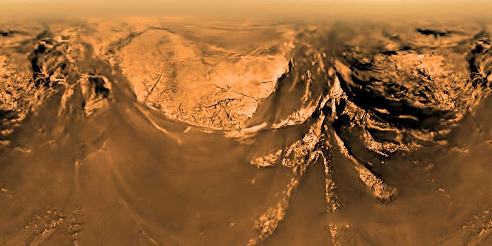 View of Titan the Huygens probe