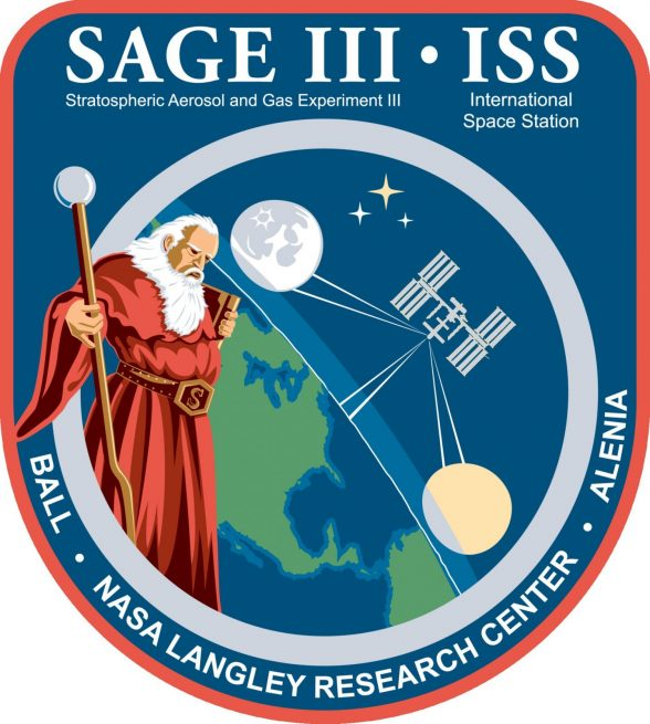 SAGE III/ISS mission logo.