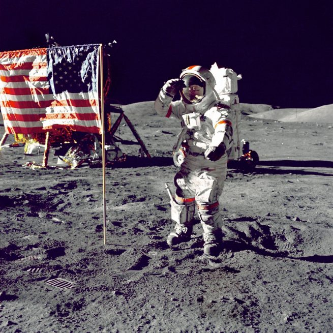 cernan on the moon