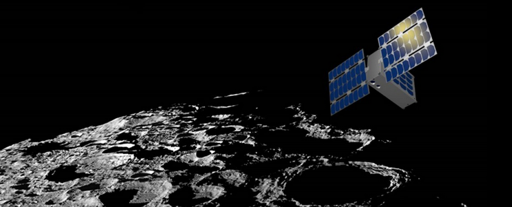 Artist's rendering of the LunaH-Map spacecraft.