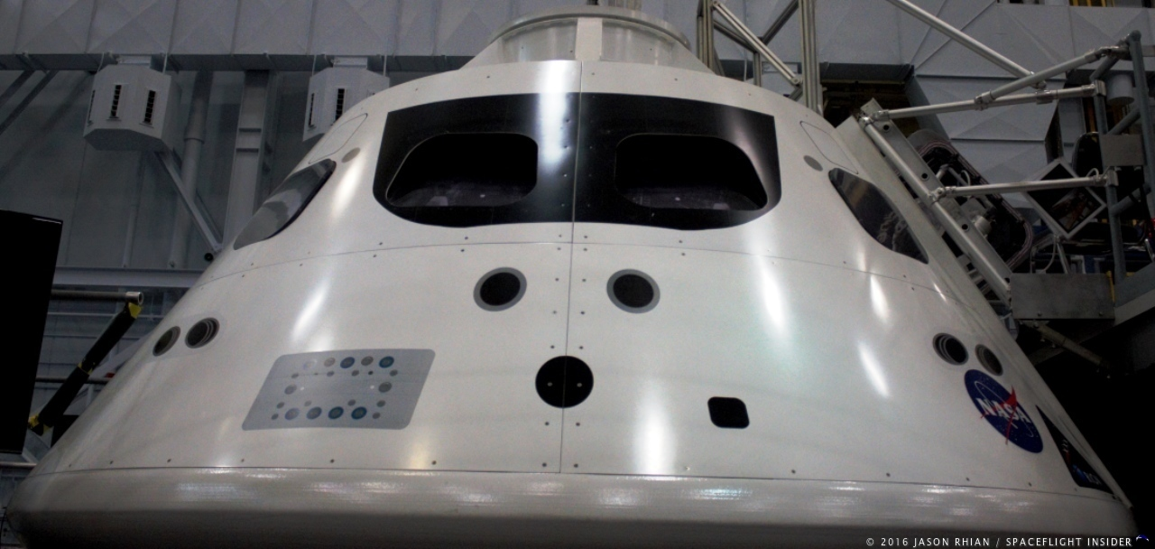 Orion spacecraft at NASA's Johnson Space Center in Houston, Texas. Photo Credit: Jason Rhian / SpaceFlight Insider