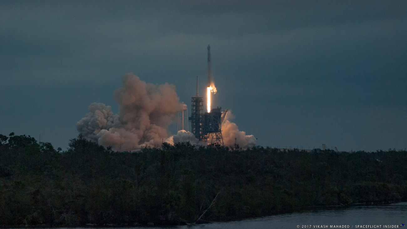SpaceXs CRS 10 Falcon 9 Rocket And Dragon Spacecraft Lift Off From