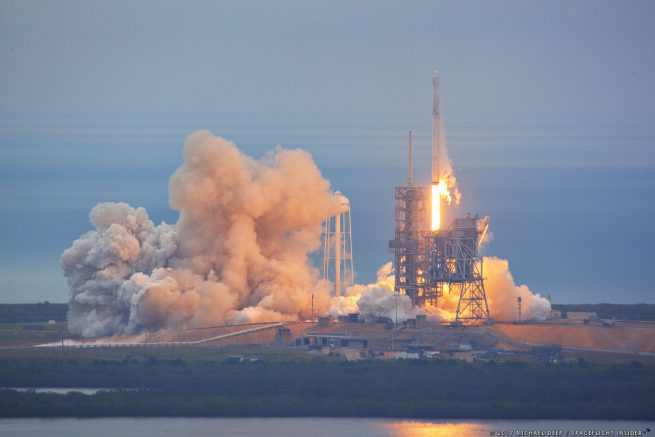 SpaceX's CRS-10 Falcon 9 rocket and Dragon spacecraft lift off from historic Launch Complex 39A at NASA's Kennedy Space Center in Florida. Liftoff occurred at 9:38 a.m. EST (14:38 GMT). Photo Credit: Mike Deep / SpaceFlight Insider