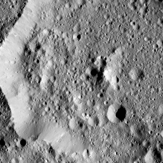 Ernutet Crater on Ceres