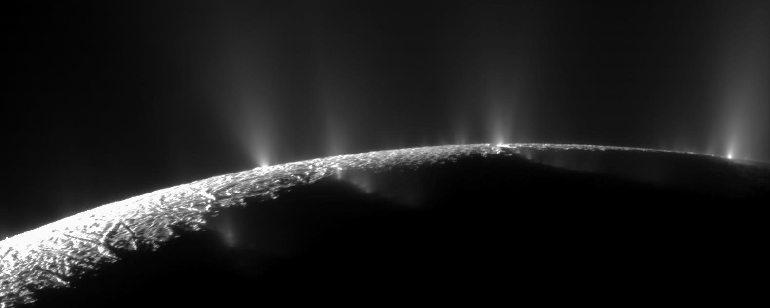 Cassini's view of Enceladus' plumes