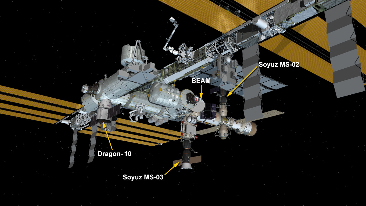ISS Visiting Vehicle Configuration on 02-23-17