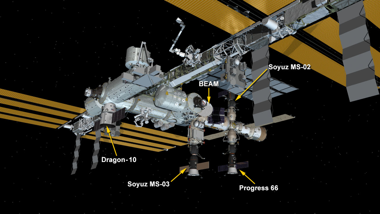 ISS Visiting Vehicle Configuration on 02-24-17 Progress MS-05 docking