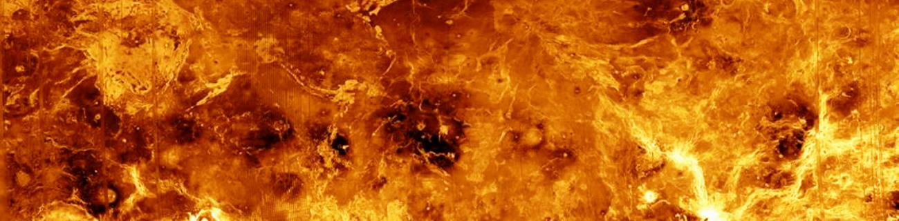 The hellish surface of the planet Venus captured by NASA's Magellan spacecraft. Photo Credit: NASA / JPL