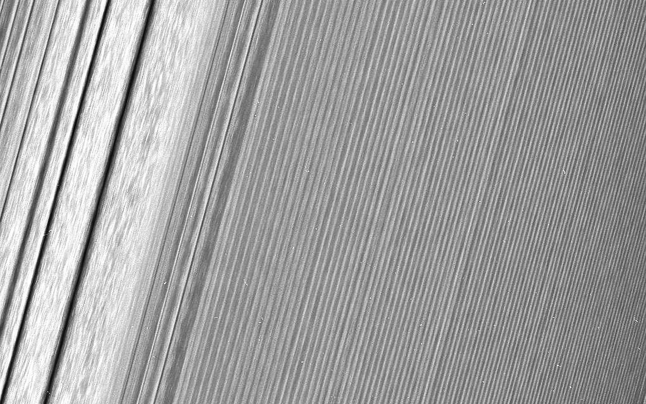 Density wave in Saturn's A ring (enhanced 40%)
