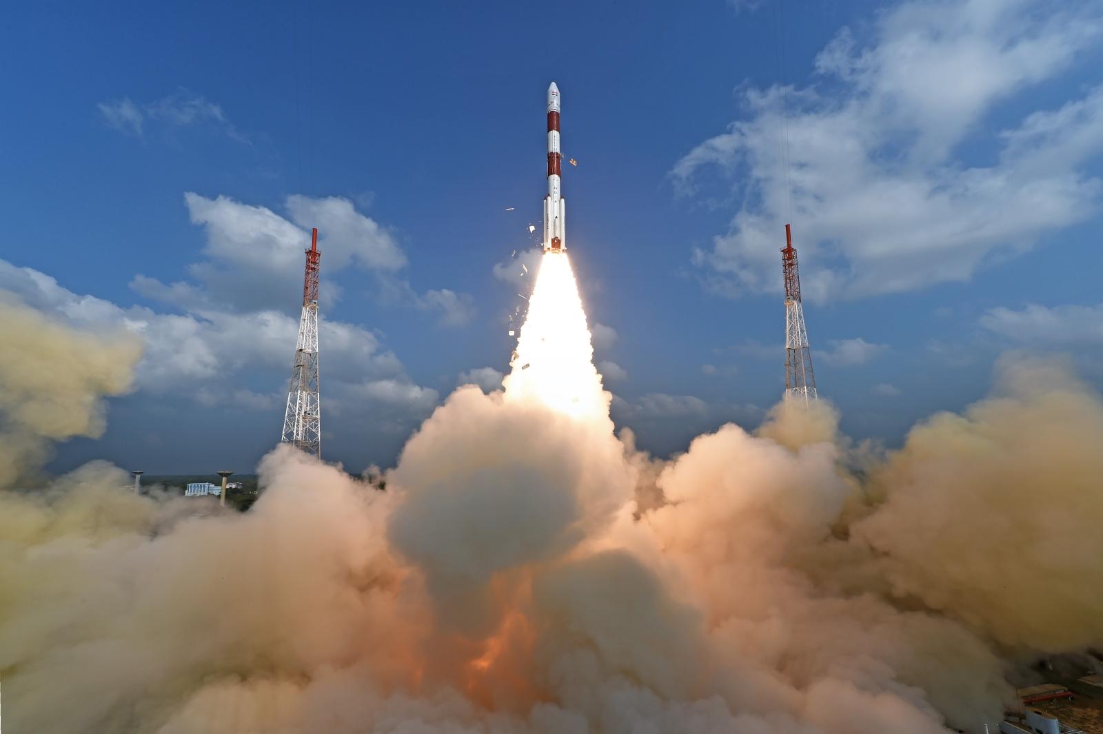 PSLV-C37 liftoff