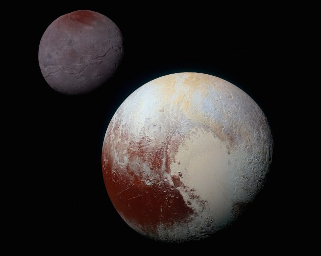 Pluto-Charon false color comparison