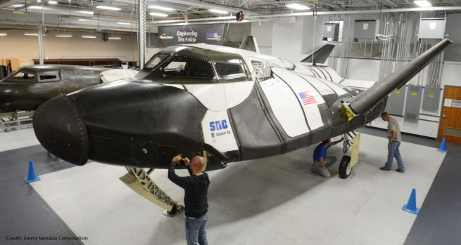 SNC Technicians Inspect Dream Chaser ETA Photo Credit SNCSpace