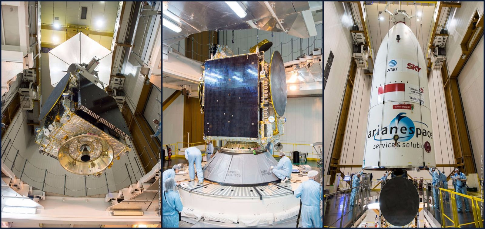 Encapsulation of satellites on flight VA235 (date: 2017-2-8)