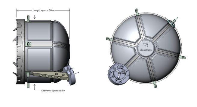 NanoRacks airlock size