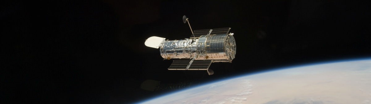 The Hubble Space Telescope as seen by the departing STS-125 crew after a week servicing the observatory in 2009. Photo Credit: NASA