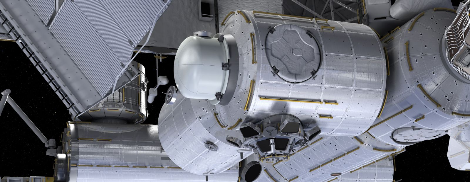 The commercial Bishop airlock will be attached to the Tranquility module on the ISS. Image Credit: NanoRacks