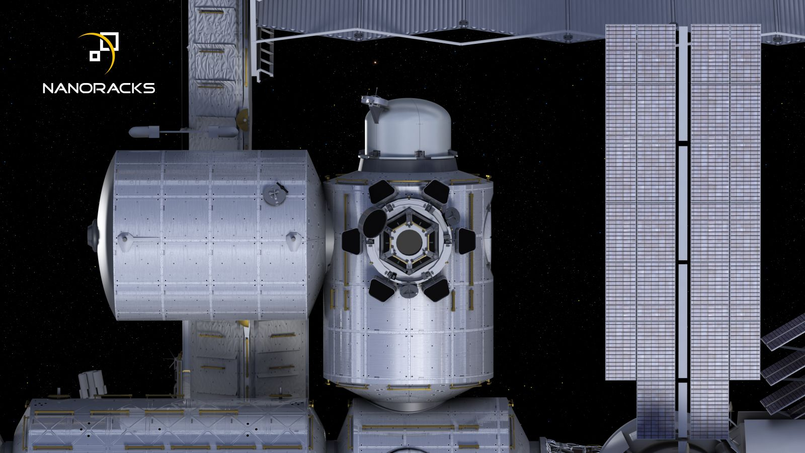 NanoRacks airlock from below