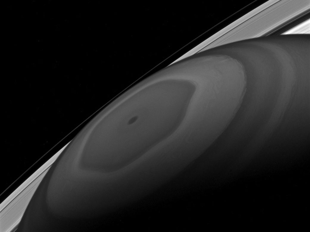 Saturn's north pole as seen by Cassini on Dec. 2, 2016.