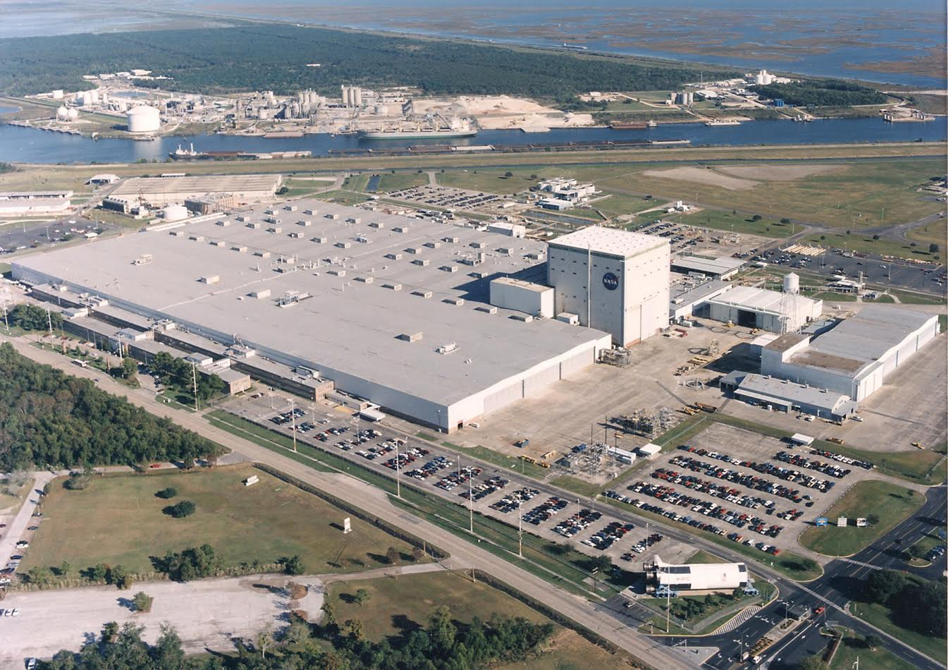 Michoud Assembly Facility aerial view NASA photo posted on SpaceFlight Insider