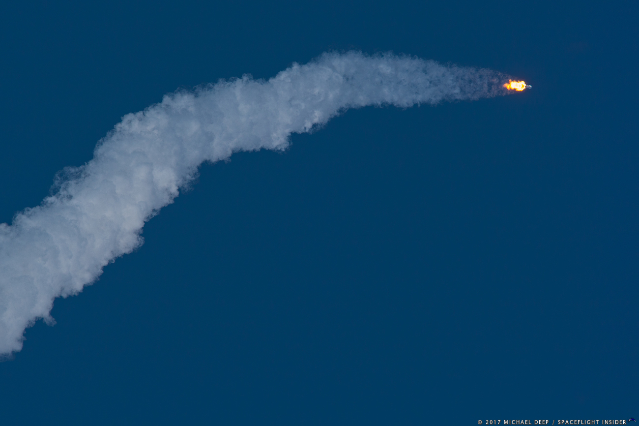 Falcon 9 with SES-10 soars toward orbit