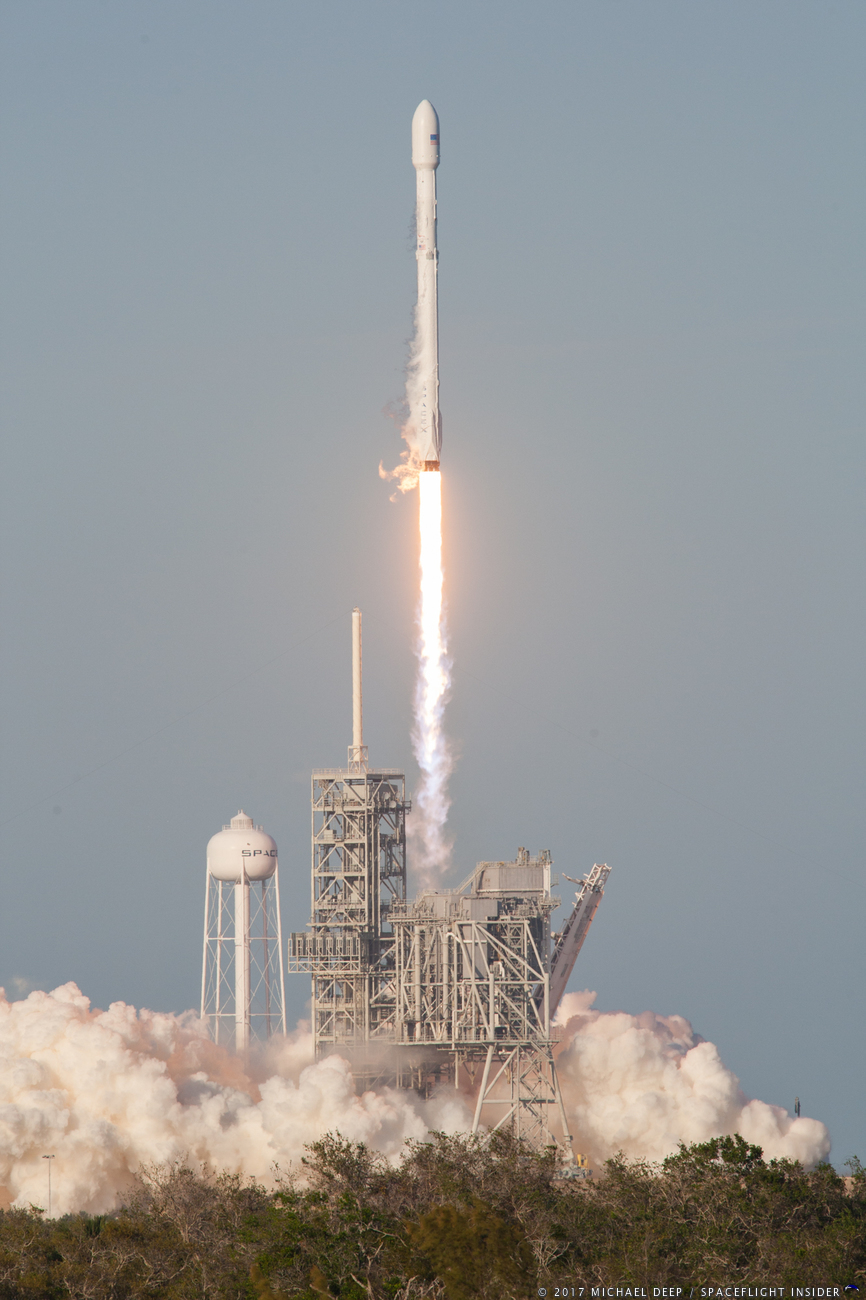 Falcon 9 SES-10 launch from LC-39A