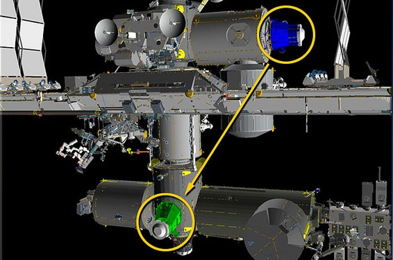 International Space Station PMA-3 docking module relocated ...