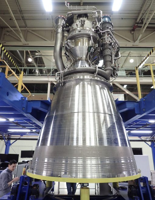 Blue Origin's First BE-4 engine fully assembled